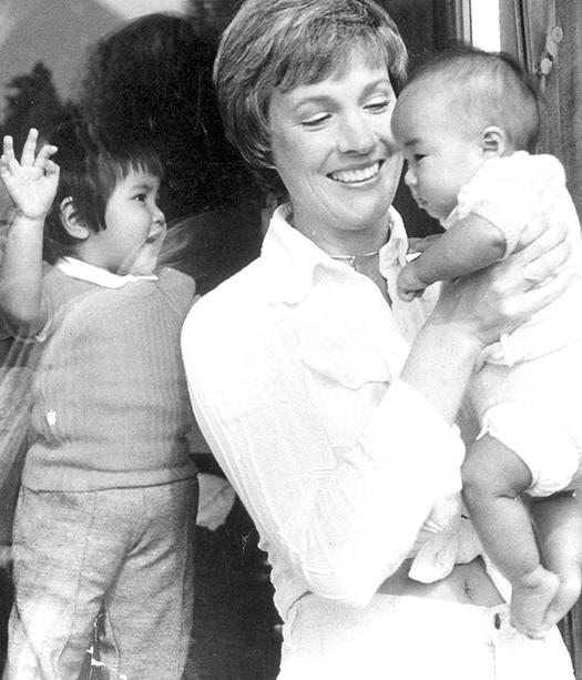 27 famous people who have adopted children more julie andrews ccuart Choice Image