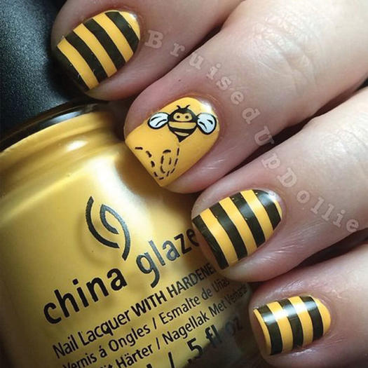 27 of the best nail art designs for any animal lover more bumble bee prinsesfo Choice Image