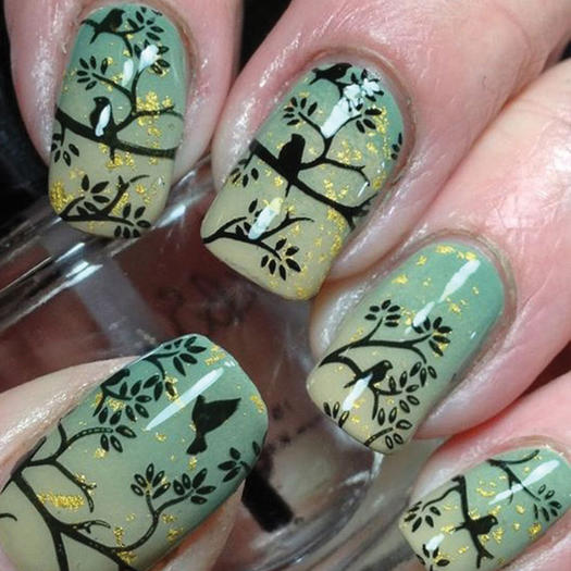 27 of the best nail art designs for any animal lover more elegant birds prinsesfo Choice Image