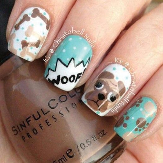 27 of the best nail art designs for any animal lover more doggie combo prinsesfo Choice Image