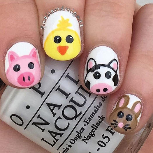 27 of the best nail art designs for any animal lover more barn party prinsesfo Choice Image