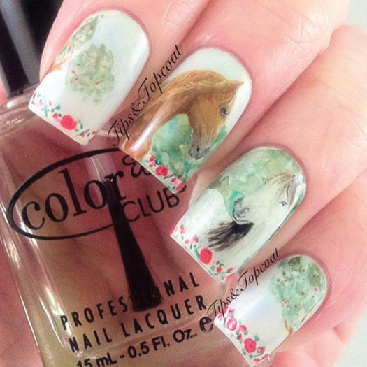 Realistic Horses - 27 Of The Best Nail Art Designs For Any Animal Lover More.com