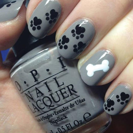 Paw Print Nail Art - 27 Of The Best Nail Art Designs For Any Animal Lover More.com