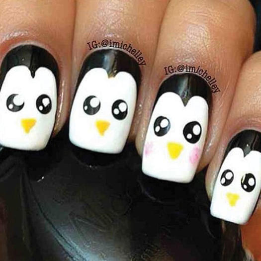 Penguin Nail Art - 27 Of The Best Nail Art Designs For Any Animal Lover More.com