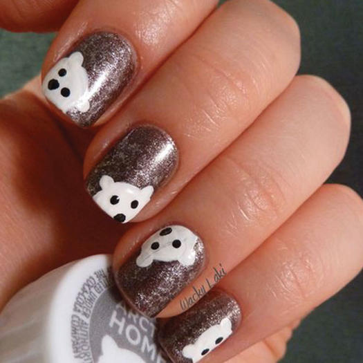 27 of the best nail art designs for any animal lover more polar bear nail design prinsesfo Gallery
