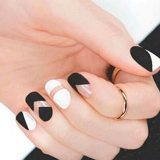 The best of the best in negative space nail art more black white prinsesfo Gallery
