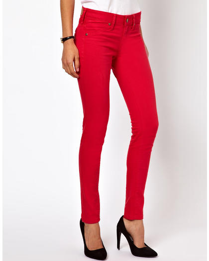 5 Ways to Wear Red Skinny Jeans | more.com