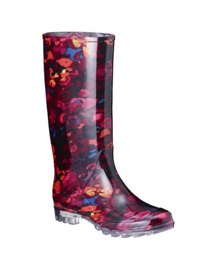 Patterned Rain Boots - Cr Boot