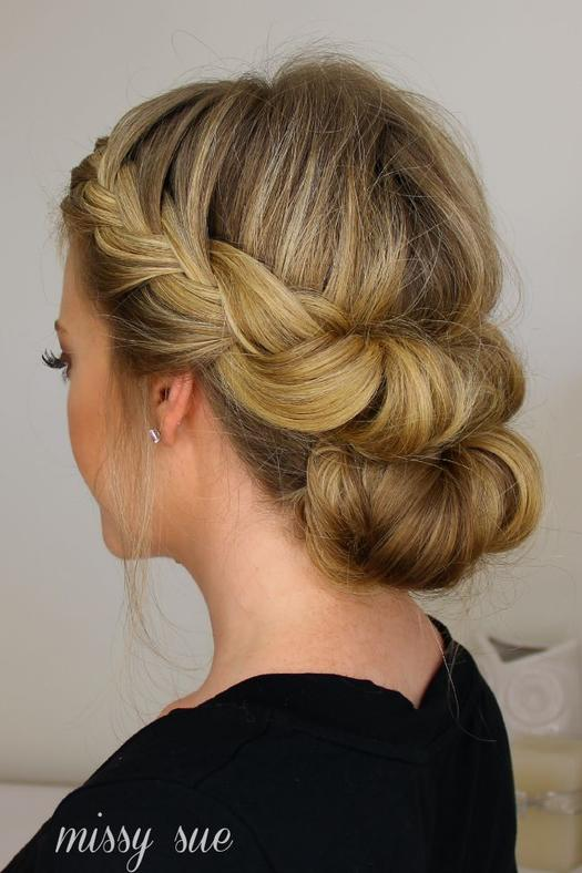 Gorgeous prom updos for dancing the night away more tuck and cover french braid and bun missy sues easy updo urmus Image collections