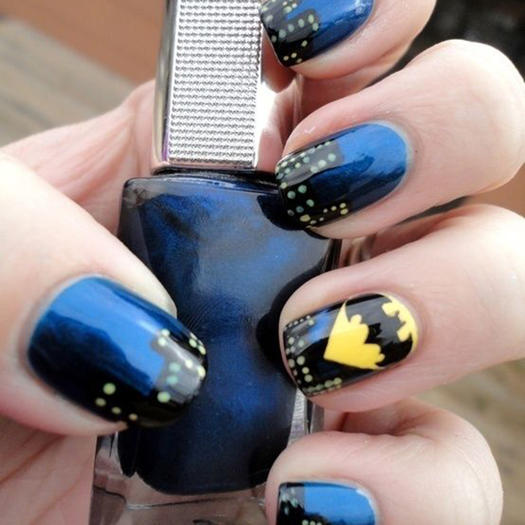 27 powerful nail designs for any comic nerd more the bat signal prinsesfo Image collections