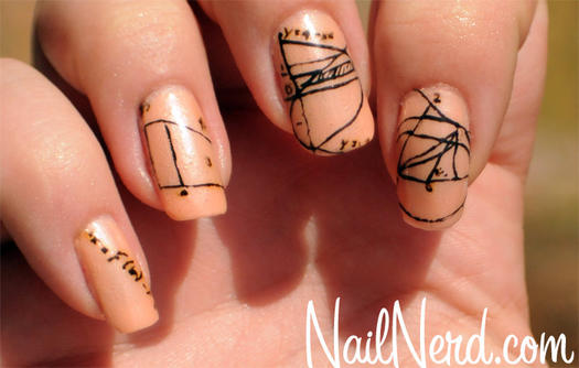 School theme nail designs that make us want to hit the books calculus nails prinsesfo Choice Image