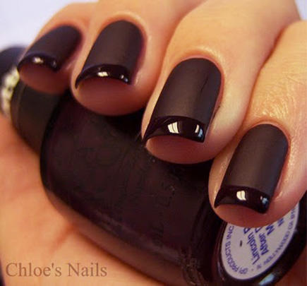 French manicure nail designs beyond boring white tips more black on black french manicure prinsesfo Images