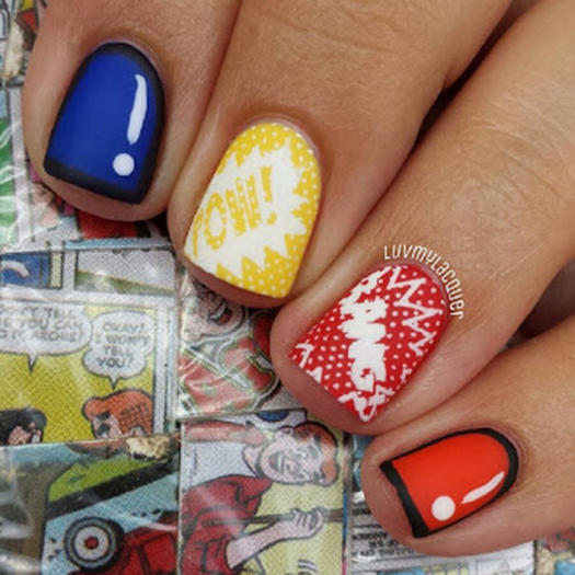 27 powerful nail designs for any comic nerd more bright comics prinsesfo Image collections