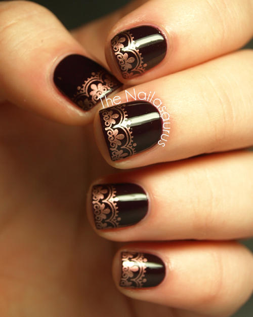 22 bold black nail designs more black nail designs prinsesfo Gallery