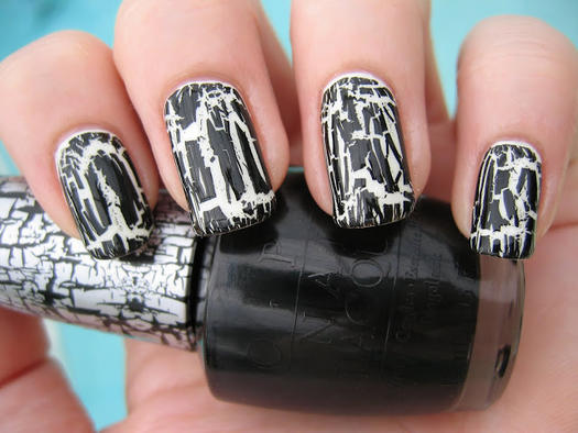 Pinterests best halloween nail designs more glow in the dark crackle polish nail design prinsesfo Choice Image