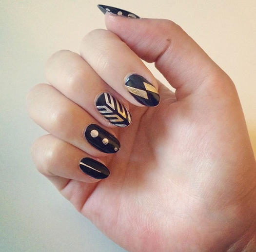 All that glitters gold nail designs we love more flash tat nails prinsesfo Choice Image