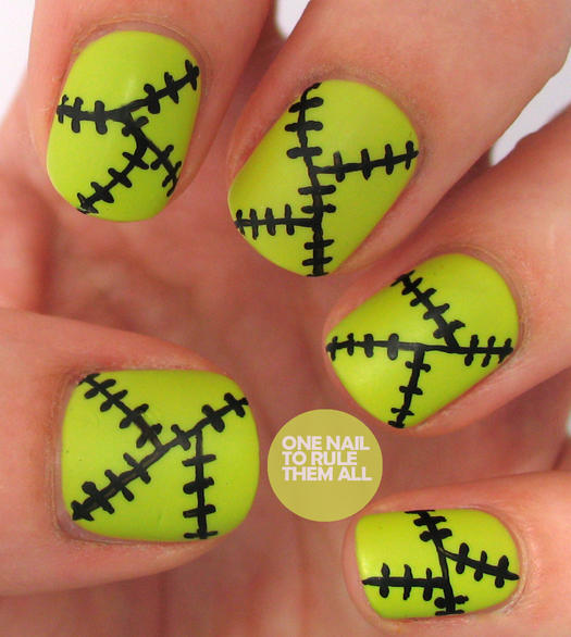 Frankenstein Nails - Easy Halloween Nail Designs For Beginners More.com