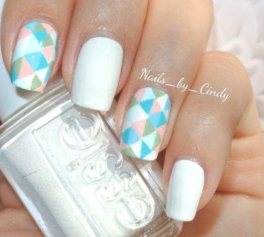Better than basic white nail designs more geometric accent nails prinsesfo Image collections