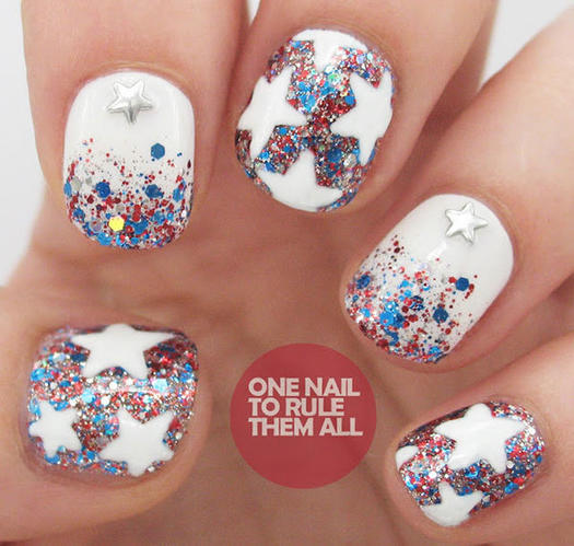 15 patriotic 4th of july nails more glitter stars nail art prinsesfo Image collections