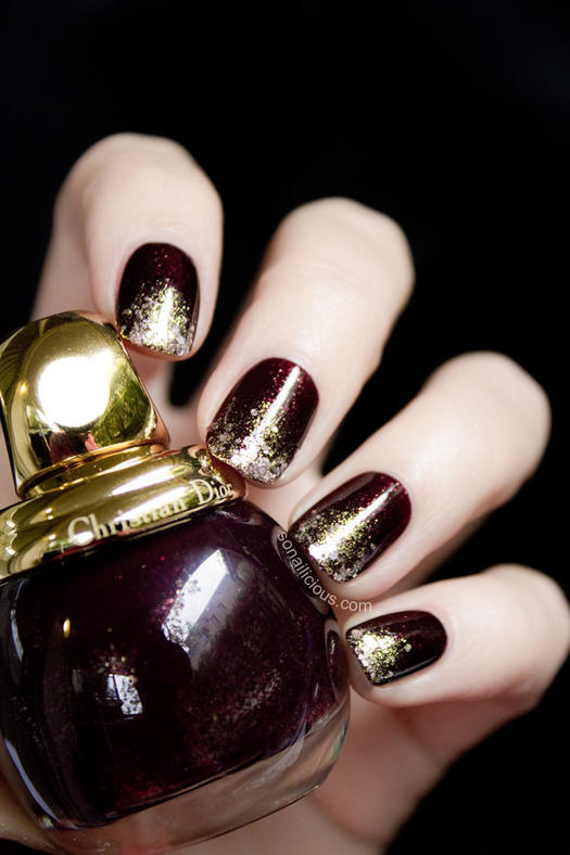 All that glitters gold nail designs we love more rich gradient design prinsesfo Choice Image