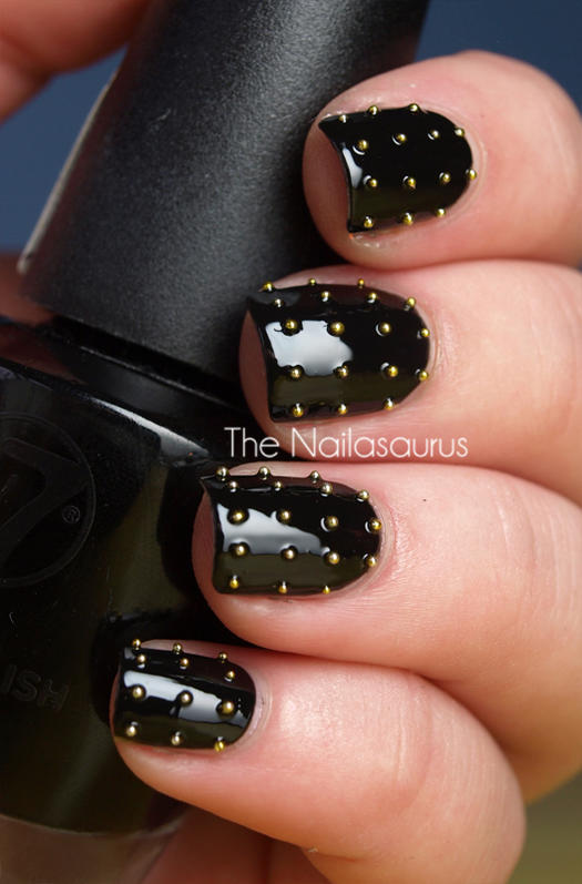 22 bold black nail designs more black nail designs prinsesfo Images