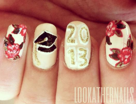 Graduation Nails - School-Theme Nail Designs That Make Us Want To Hit The Books
