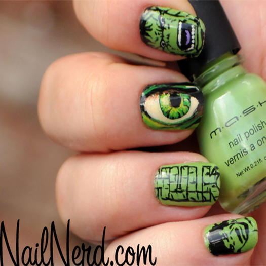 27 powerful nail designs for any comic nerd more the incredible hulk prinsesfo Image collections