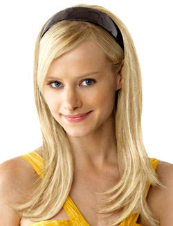 Temp tresses eleven natural looking hair extensions more put on pieces human hair headband fall pmusecretfo Image collections