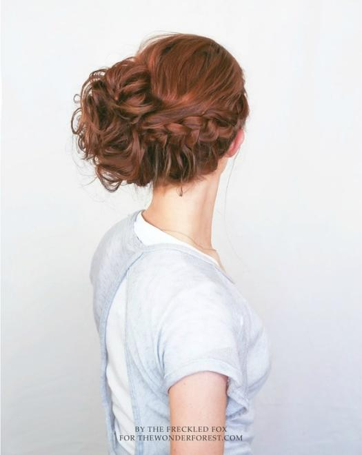 Beautiful beach wedding hairstyles you can do yourself more lace braid updo junglespirit Image collections