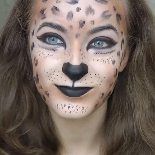 leopard - Cat Eyes Makeup For Halloween