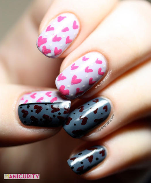 28 valentines day nails wed love to wear all february more love and heartbreak manicurity created this nail art prinsesfo Image collections