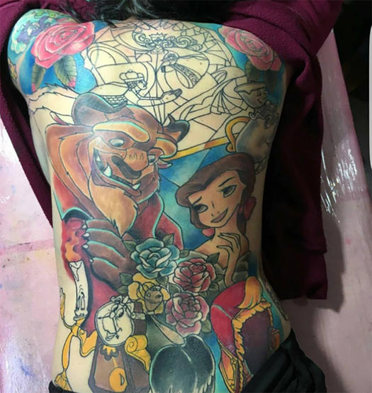 15 disney tattoos that will make you the fairest of them for Notre dame tattoos