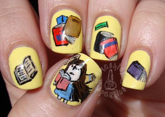 16 book inspired nail art designs more matilda prinsesfo Image collections