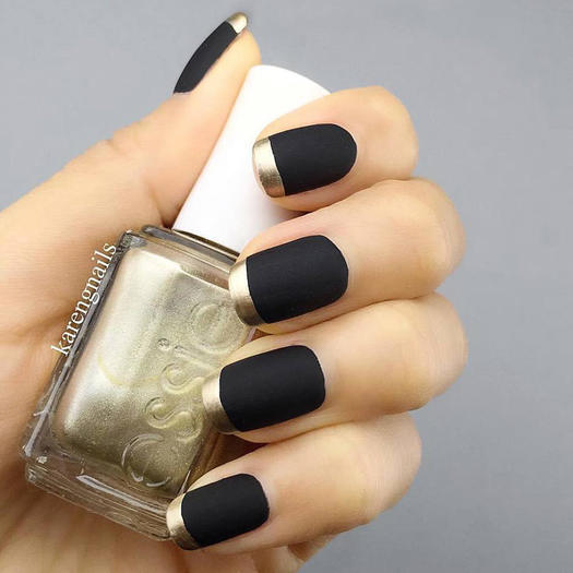 Amazing matte and chrome nail art looks you have to try right now back to black prinsesfo Image collections