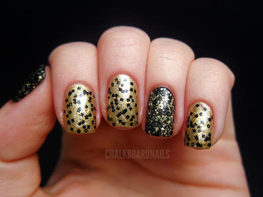 23 metallic nail polish designs we want to wear this holiday metallic polish dusted glitter prinsesfo Image collections