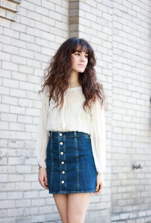 Light Denim Skirt Outfit
