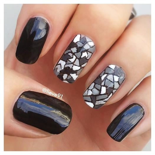 black nail designs - 22 Bold Black Nail Designs More.com
