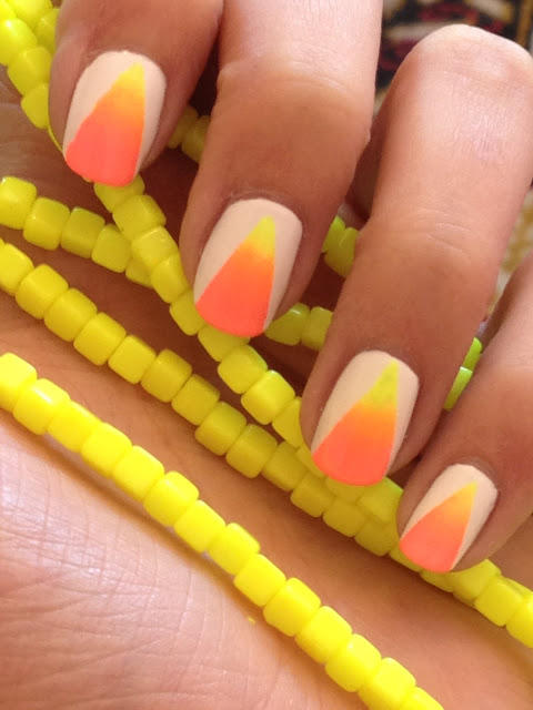 17 simple nail designs even a nail newbie can do more ombre neon nails prinsesfo Images