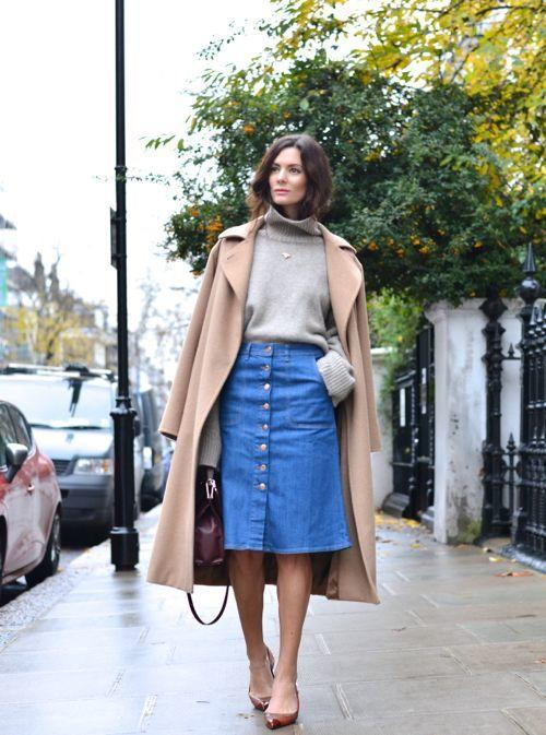 Layered - 16 Fresh Ways To Wear A Denim Skirt More.com