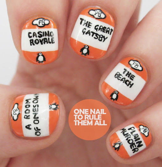 16 book inspired nail art designs more penguin book covers prinsesfo Image collections