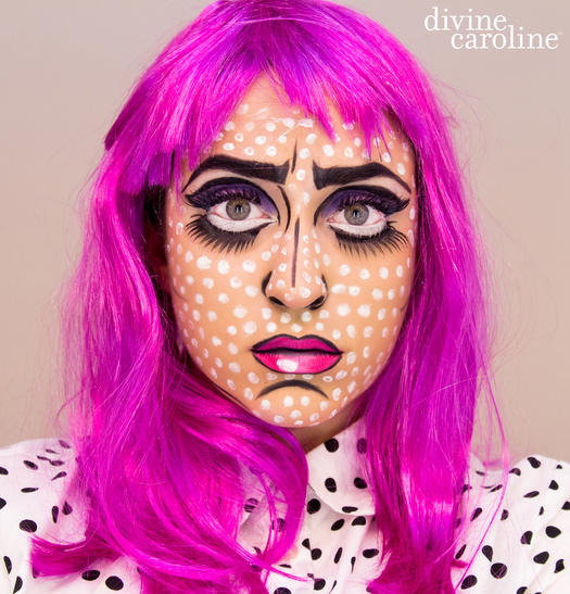 pop art comic book girl - Make Your Own Halloween Makeup