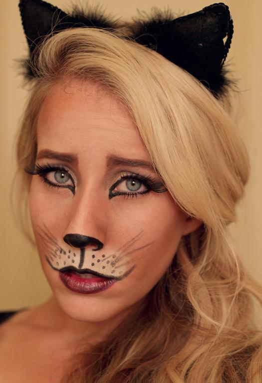 pretty kitty - Halloween Makeup For Cat Face
