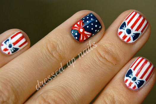 15 patriotic 4th of july nails more retro patriotic nail art this july 4th prinsesfo Image collections