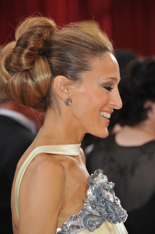 Something borrowed celeb updos for your summer wedding more the knotted updo pmusecretfo Gallery