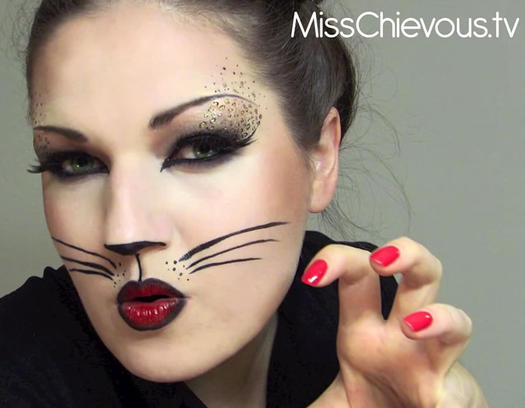 sexy cat this gorgeous feisty halloween cat makeup - Cat Eyes Makeup For Halloween