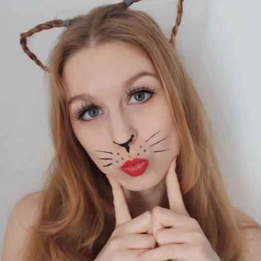 10 fierce halloween cat makeup ideas morecom