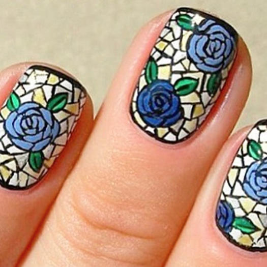 Stained Glass Nail Art: 15 Stained Glass Mosaic Nail Designs Guaranteed To Blow