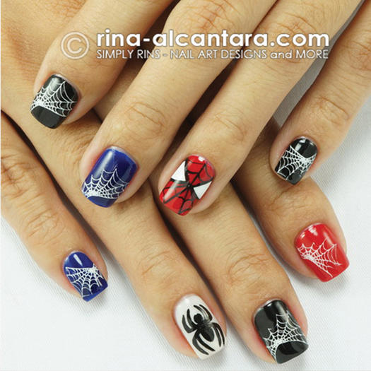 27 powerful nail designs for any comic nerd more spider man simply rins nail design prinsesfo Image collections