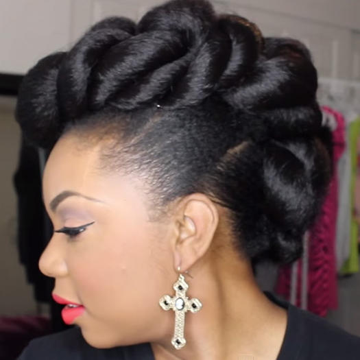 Stunning wedding hairstyles for black women more natural hair faux hawk updo urmus Choice Image
