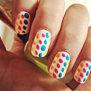 Ooh i love that nail color women choose favorite shades more candy colored dots prinsesfo Gallery